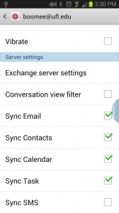 Change Exchange email password on Android (Version 4 1 2