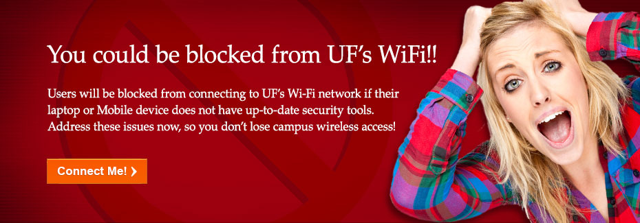 You could be blocked from UF WiFI